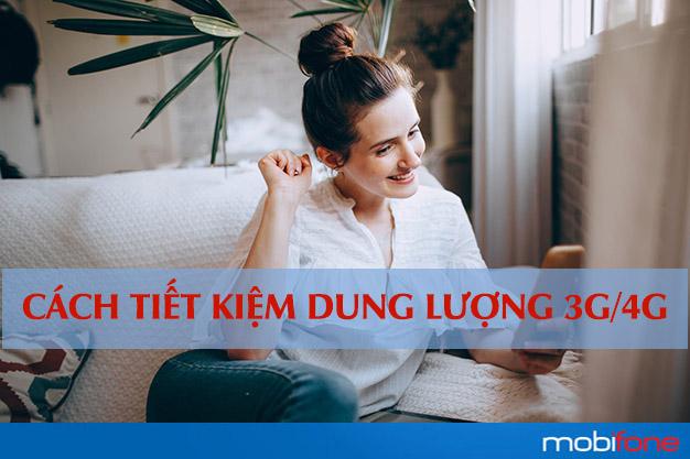 Tiết kiệm dung lượng 3G, 4G Mobifone