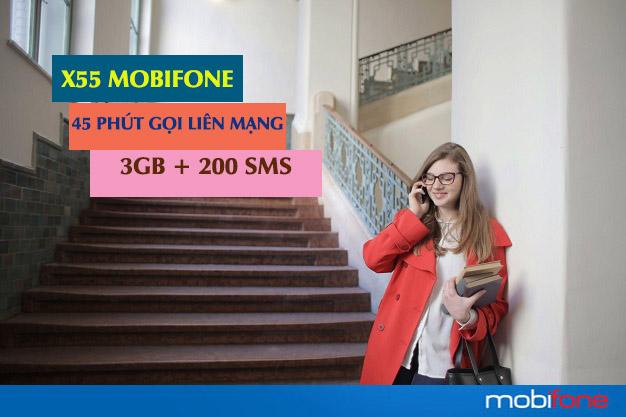 Ưu đãi gói cước X55 Mobifone